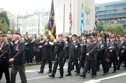 Royal Highland Fusiliers Association - Remembrance Sunday Glasgow 2011