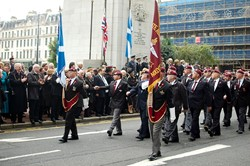 Veterans from the Parachute Regiment - Remembrance Sunday Glasgow 2011