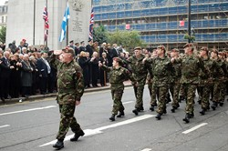 Soldiers Parade - Remembrance Sunday Glasgow 2011
