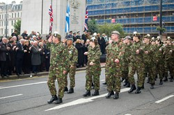 Soldiers on Parade - Remembrance Sunday Glasgow 2011