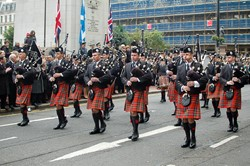 Pipes and Drums - Remembrance Sunday Glasgow 2011