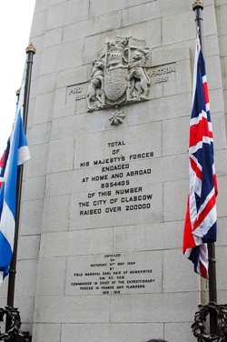 Cenotaph in George Square - Remembrance Sunday Glasgow 2011