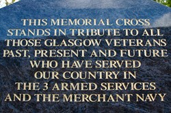 Inscription - Veterans Memorial Monument, Knightswood, Glasgow