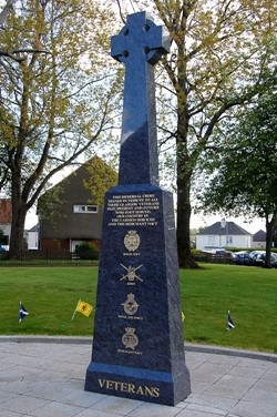 Veterans Memorial Monument in Knightswood, Glasgow