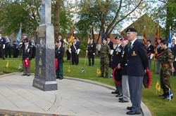 Veterans with Wreaths - Veterans Memorial Monument, Knightswood, Glasgow