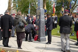 A Wreath is Laid - Veterans Memorial Monument, Knightswood, Glasgow