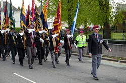 Veterans with Standards on Parade in Glasgow