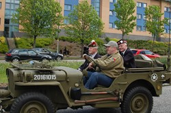 Landrover in the Glasgow Veterans Parade