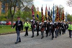 Miltary Standards - Victory in Europe Parade Glasgow