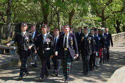 Royal Highland Fusiliers Veterans - Memorial Glasgow 2012