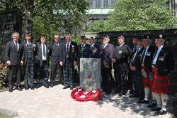 Veterans at the Memorial to the Royal Highland Fusiliers