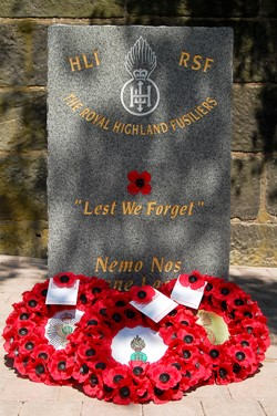 Memorial Royal Highland Fusiliers - Glasgow 2012
