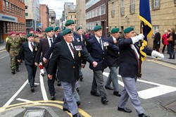 Royal Marine Veterans - Armed Forces Day Glasgow 2012