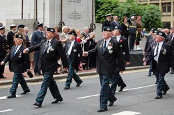Cameronians (Scottish Rifles) Veterans - Armed Forces Day Glasgow 2012