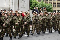 Cadets at the Cenotaph - Armed Forces Day Glasgow 2012