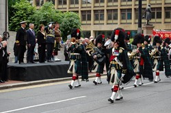 Lowland Band - Armed Forces Day Glasgow 2012