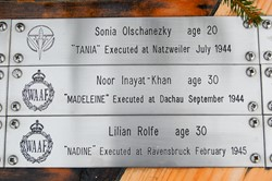Sonia Olschanezky, Noor Inayat-Khan, Lilian Rolfe - Special Operations Executive