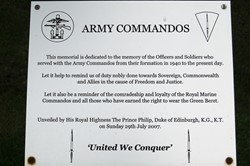 United We Conquer - Army Commandos Memorial