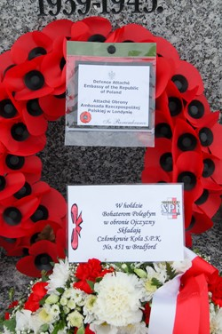 Wreaths Polish Armed Forces Memorial - 2012