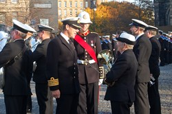 Inspection of Royal Navy Band - Seafarers' Service, Glasgow Cathedral in 2012
