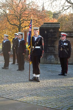 Sea Cadet with Standard - Seafarers' Service, Glasgow Cathedral 2012