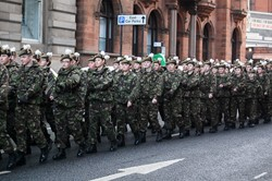 Army Cadets in Glasgow for Remembrance Sunday 2012