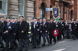Veterans Royal Marines in Glasgow for Remembrance Sunday 2012