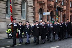 Military Veterans - Remembrance Sunday Glasgow 2012