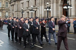 Veterans in George Square - Remembrance Sunday Glasgow 2012