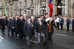 Veterans Parade in George Square Glasgow on Remembrance Sunday 2012
