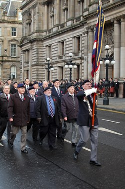 Veterans March in Glasgow on Remembrance Sunday 2012