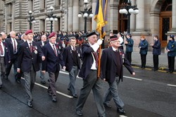 Veterans Parade in George Square on Remebrance Sunday 2012