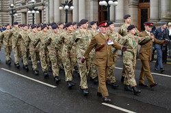 British Army Parade - Remembrance Sunday Glasgow 2012