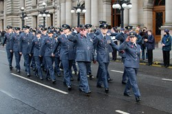 Royal Air Force March on Remembrance Sunday Glasgow 2012