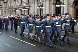 Universities of Glasgow and Strathclyde Air Squadron - Remembrance Sunday Glasgow 2012