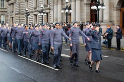 Air Training Corps in George Square - Remembrance Sunday Glasgow 2012