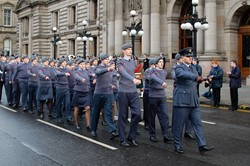 Air Training Corps on Parade in Glasgow - Remembrance Sunday 2012