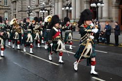 Military Pipes and Drums - Remembrance Sunday Glasgow 2012