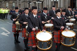Pipes and Drums - Remembrance Sunday Glasgow 2012