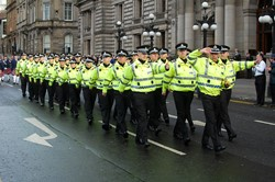 Police - Remembrance Sunday Glasgow 2012