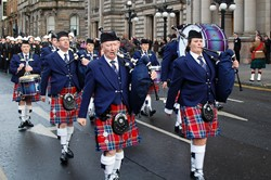 Strathclyde Fire and Rescue Band Parade - Remembrance Sunday Glasgow 2012