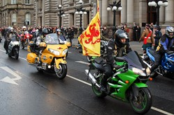 Motorcycles on Parade - Remembrance Sunday Glasgow 2012