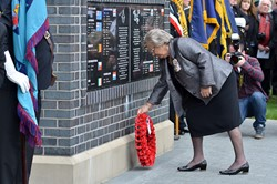 Marjory McLachlan Lord Lieutenant of Stirling and Falkirk - Spitfire Memorial Grangemouth