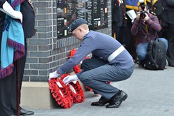 Air Cadet Lays Wreath - Spitfire Memorial Grangemouth