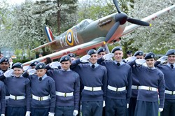 Air Cadets Salute - Spitfire Memorial Grangemouth