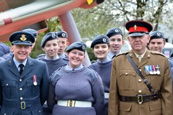 ATC Cadets and Officers - Spitfire Memorial Grangemouth