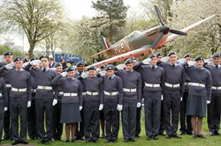Air Training Corps Cadets Salute - Spitfire Memorial Grangemouth
