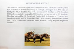 The Memorial Spitfire at Grangemouth