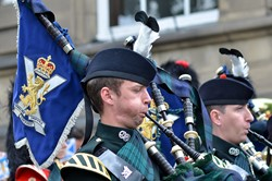 Pipes and Drums, Argyll and Sutherland Highlanders - Farewell Parade Stirling 2013