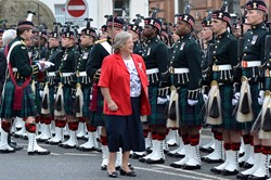 Marjory McLachlan Lord Lieutenant of Stirling and Falkirk - Argyll and Sutherland Highlanders Farewell Parade